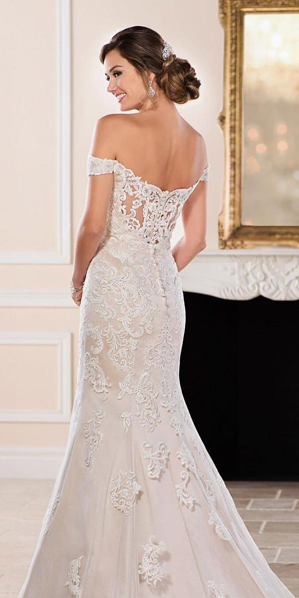 trumpet wedding dresses off the shoulder lace embroidery miss stella york