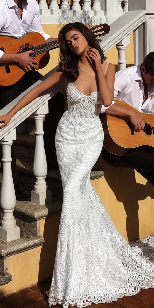 trumpet wedding dresses sexy sweetheart lace endrit mertiri