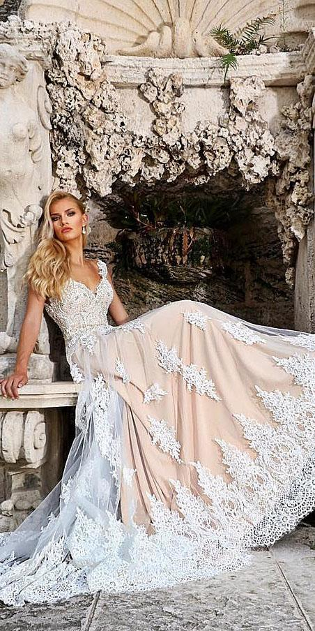 unique lace wedding dresses ball gown sweetheart embroidered ashley justin bride