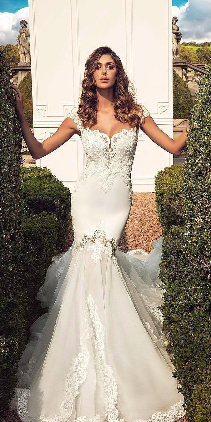 unique lace wedding dresses mermaid sweetheart tulle skirt sexy alessandro angelozzi couture