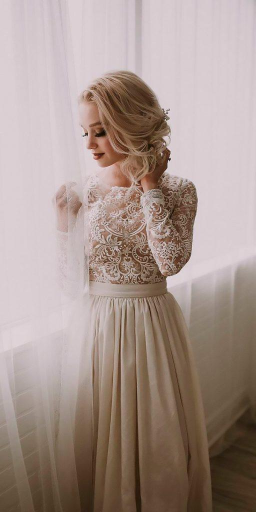 12cffe03372e ... blush oksana mukha. vintage wedding dresses 1920s lace long sleeves  high neck natalie wynn