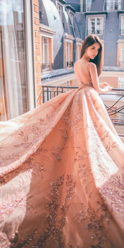 wedding dresses fall 2018 ball gown blush with straps zuhair murad official
