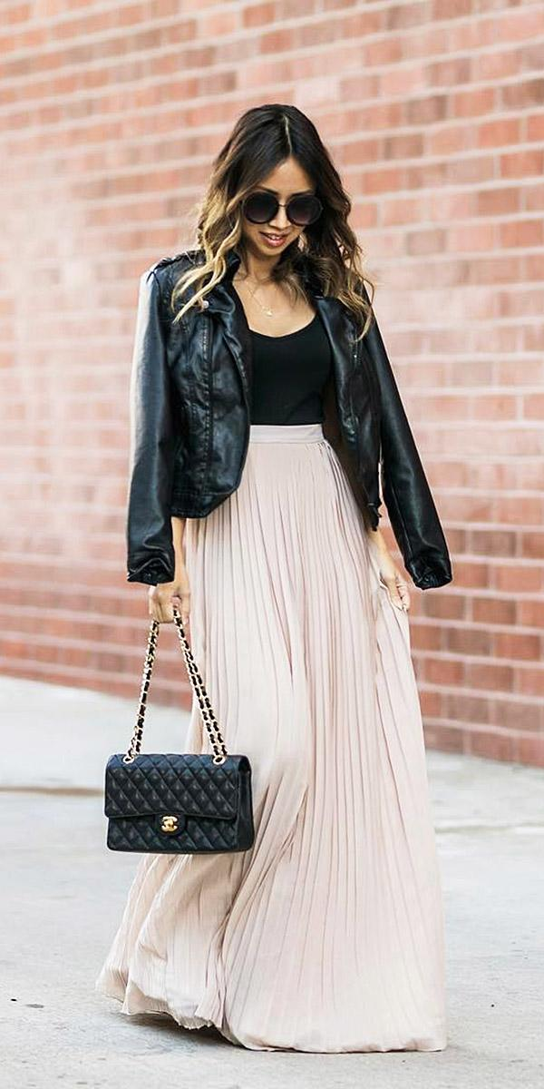 winter wedding guest wedding pink long skirt classy lace and locks