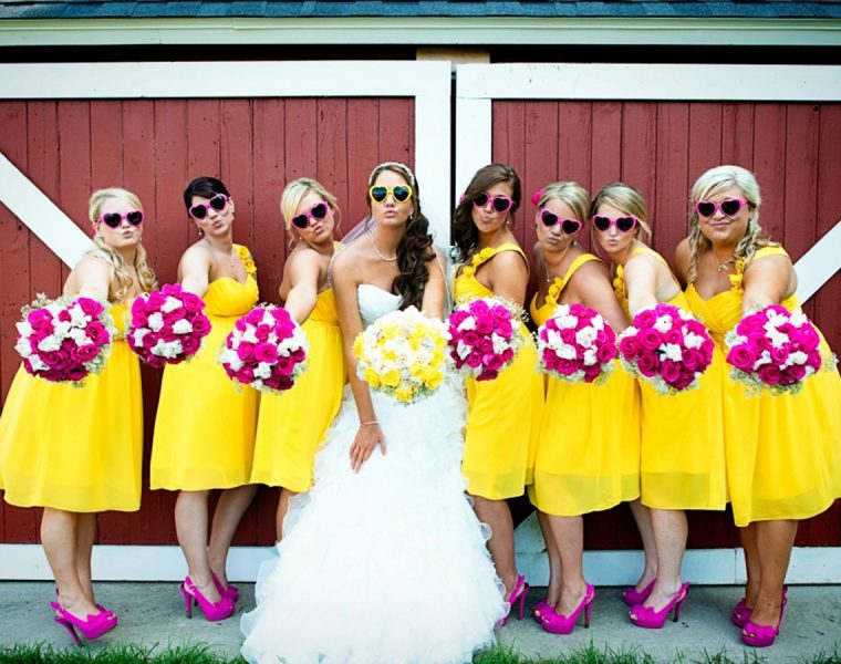 yellow bridesmaid dresses featured