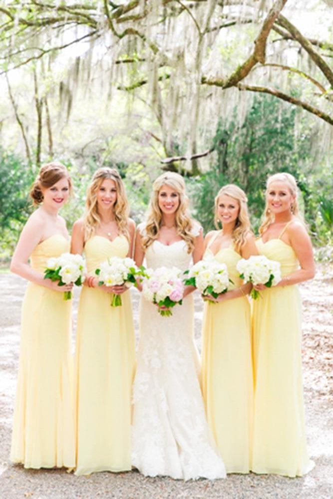 yellow bridesmaid dresses long mismatched dana cubbage