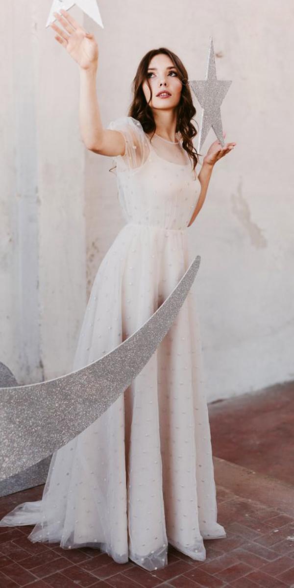 nadia manzato wedding dresses a line with cap sleeves illusion neckline 2018