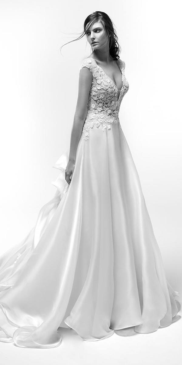 alessandra rinaudo wedding dresses a line deep v neckline with cap sleeves lace top