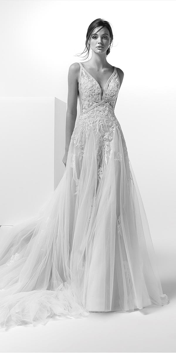 alessandra rinaudo wedding dresses a line deep v neckline with spaghetti straps for beach lace