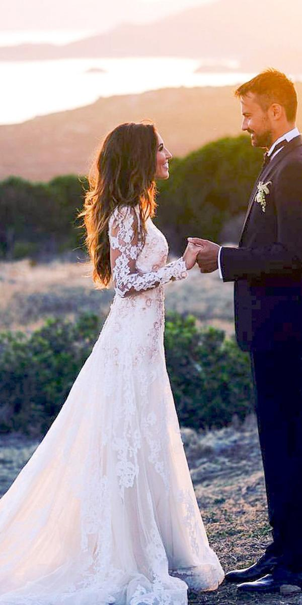 alessandra rinaudo wedding dresses a line with long sleeves lace real bride