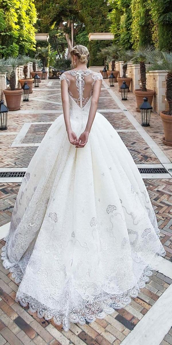 alessandra rinaudo wedding dresses ball gown with cap sleeves tattoo effect back lace 2017