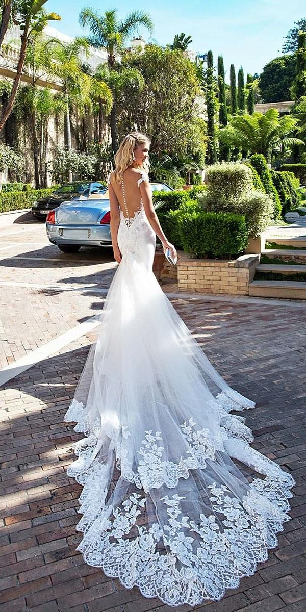 alessandra rinaudo wedding dresses mermaid tattoo effect back iilusion cap sleeves with train 2017