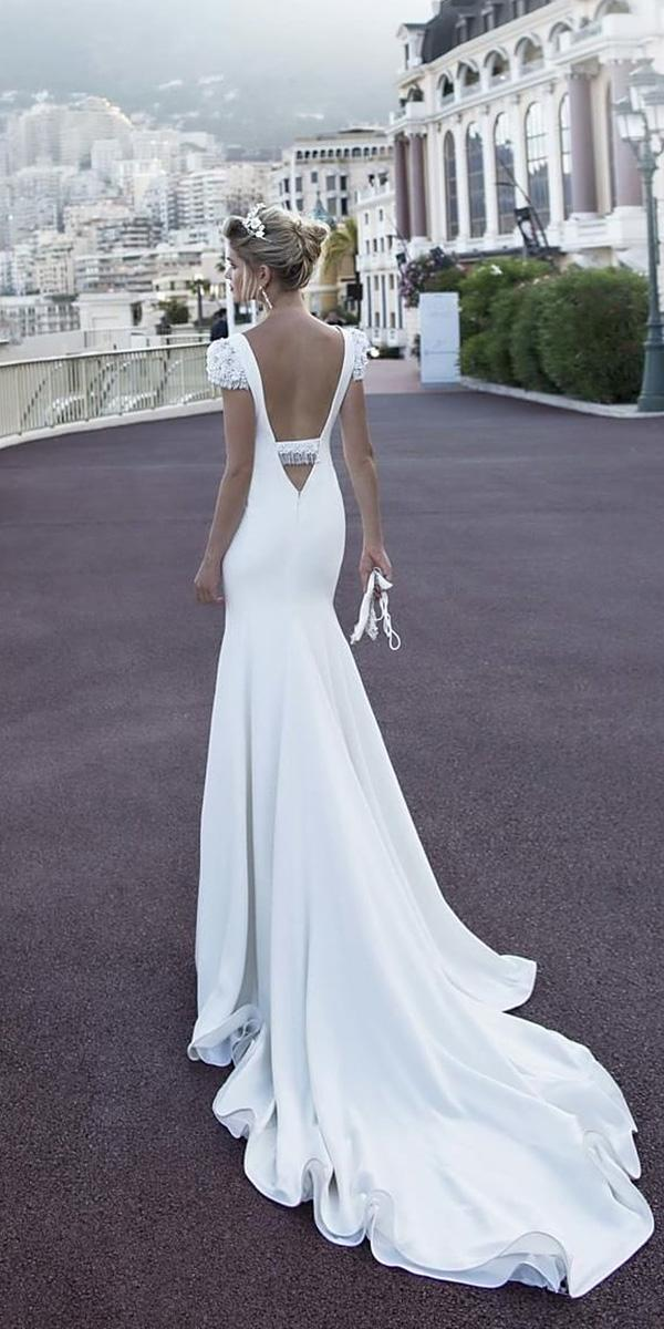 alessandra rinaudo wedding dresses mermaid with cap sleeves v back with train 2017