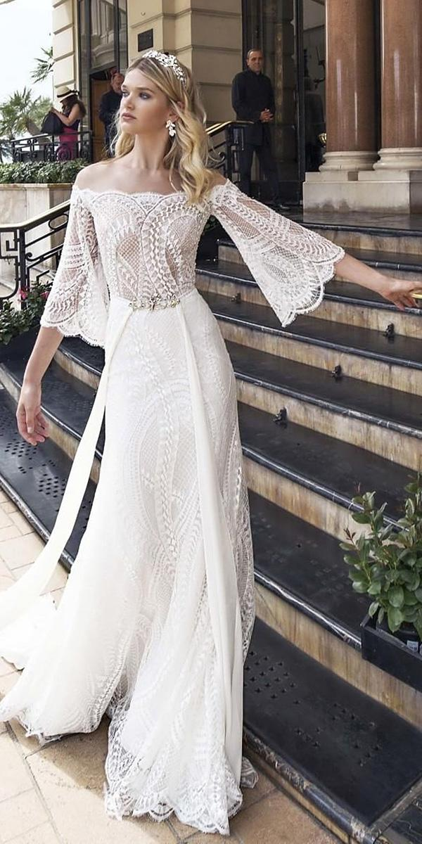 alessandra rinaudo wedding dresses sheath with sleeves lace 2017