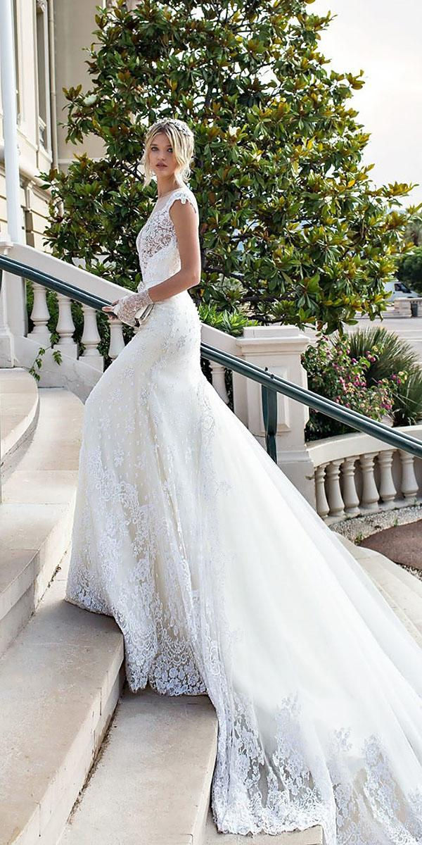 alessandra rinaudo wedding dresses sheath witn cap sleeves full lace 2017