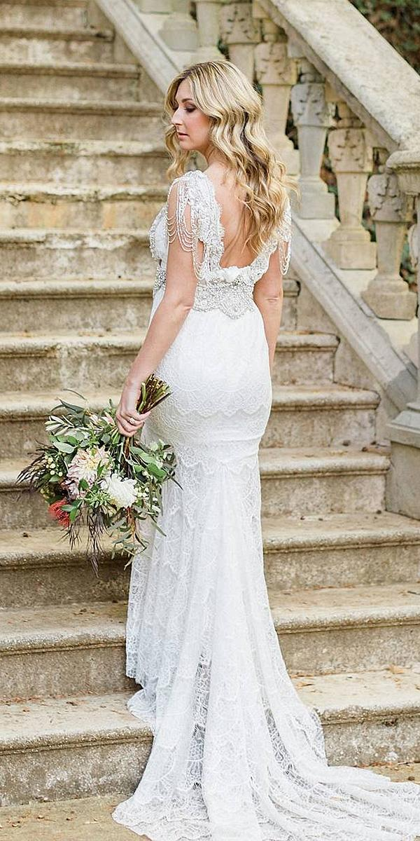 anna campbell wedding dresses 2018 sheath lace vintage real bride