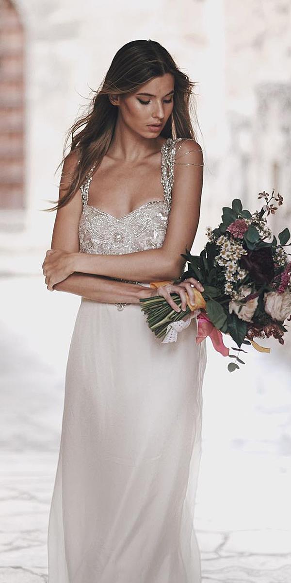 anna campbell wedding dresses 2018 sheath sweetheart beaded top real bride