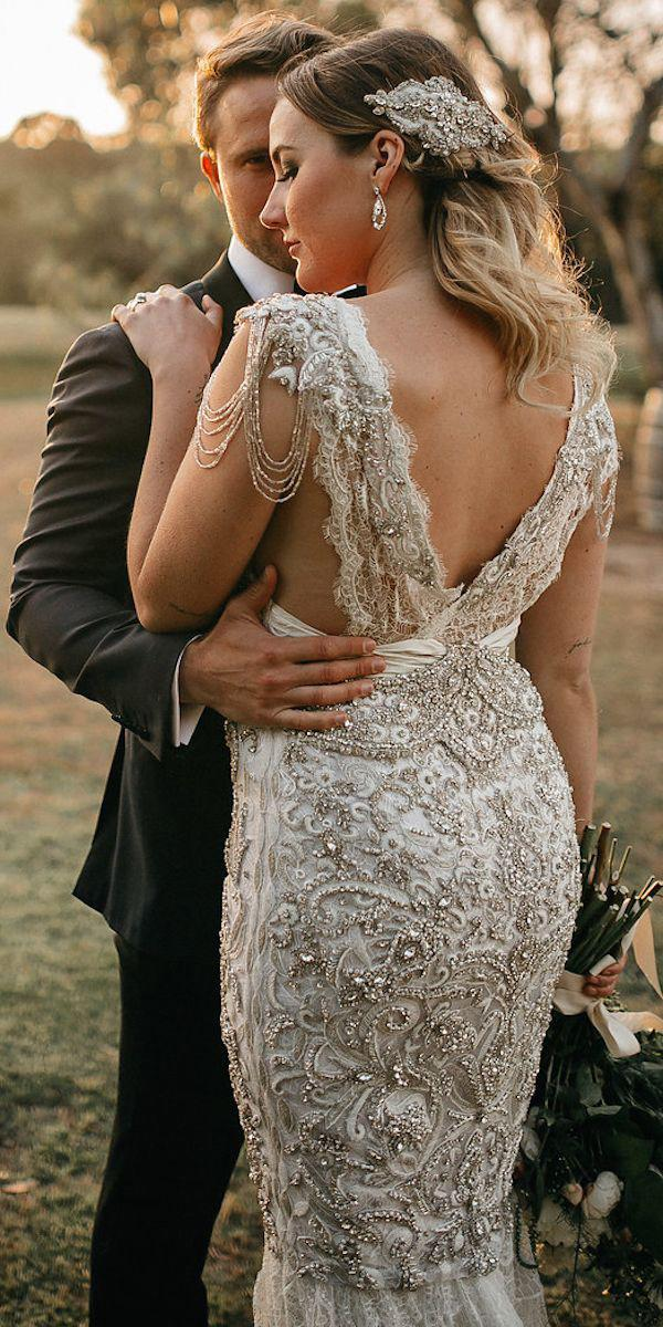 anna campbell wedding dresses 2018 sheath v back beaded real bride