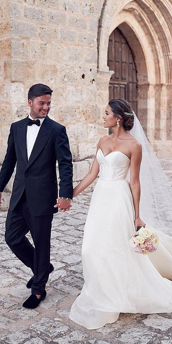 anna campbell wedding dresses 2018 strapless simple for real bride