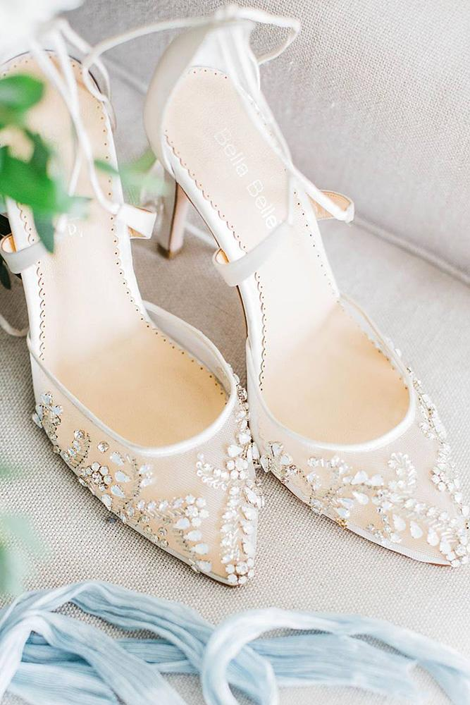 Comfortable wedding shoes beaded floral elizabet hanne for Comfortable wedding dress shoes
