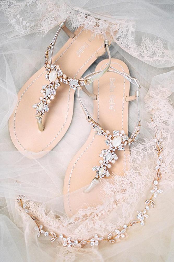 comfortable wedding shoes sandals beach sparkle malvina frolova