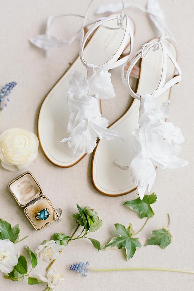 comfortable wedding shoes sandals boho floral rebecca yale