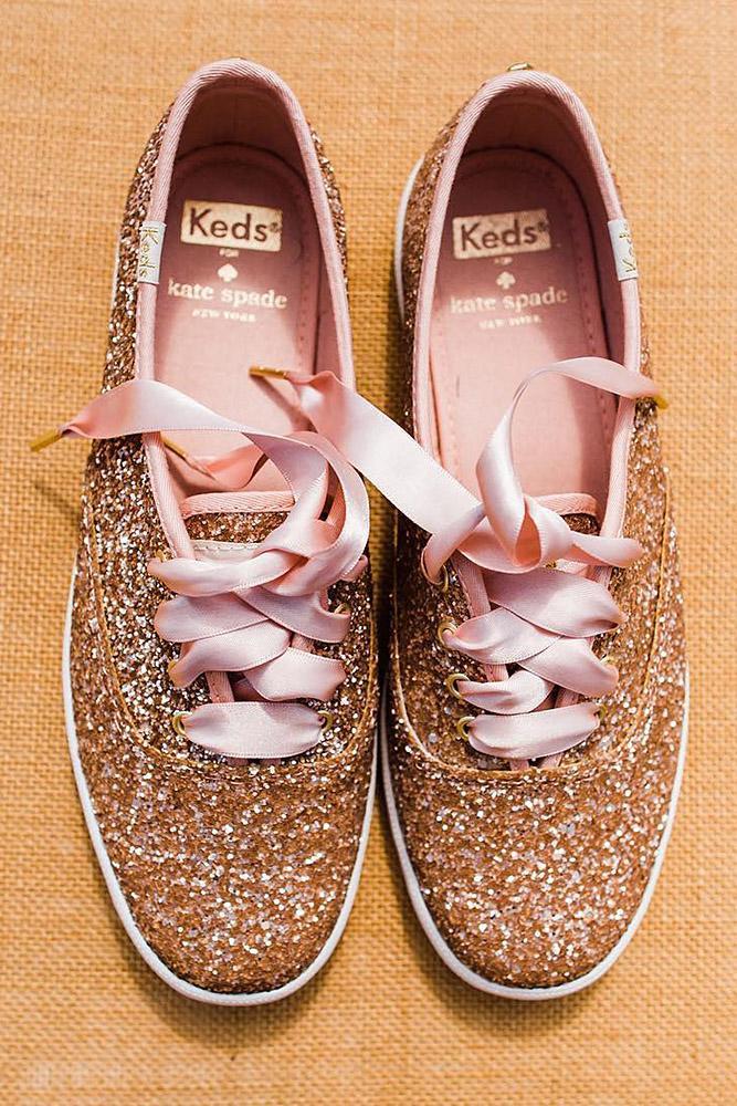 comfortable wedding shoes sneekers seqiuns sparkle gold casablanca bridal