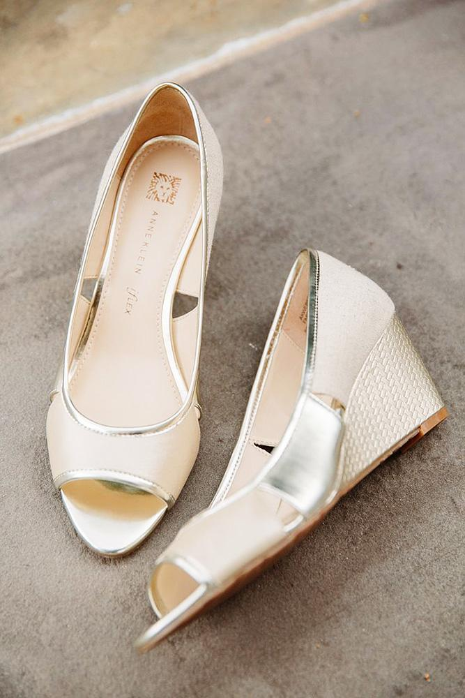 comfortable wedding shoes wedges blush tory williams