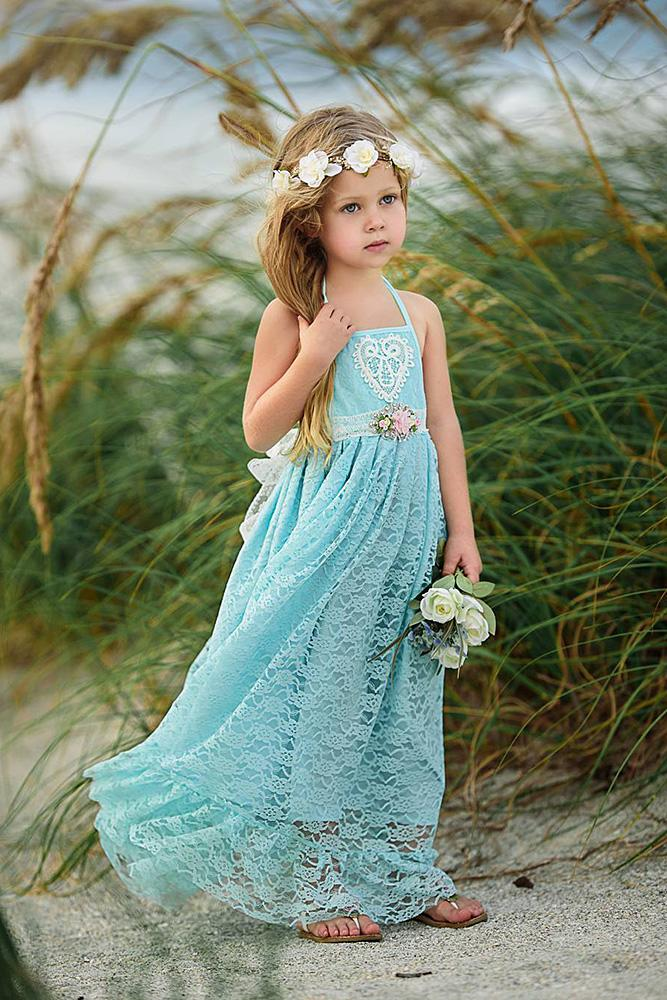 country flower girl dresses lace embellishment blue rustic old classic photography