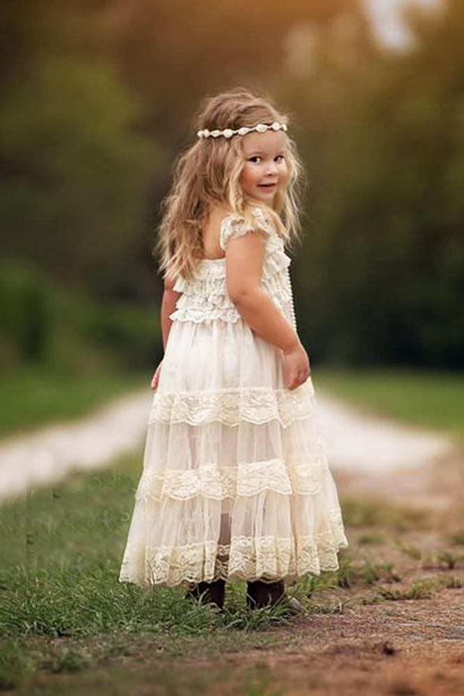 country flower girl dresses ruffled lace lizza web photography