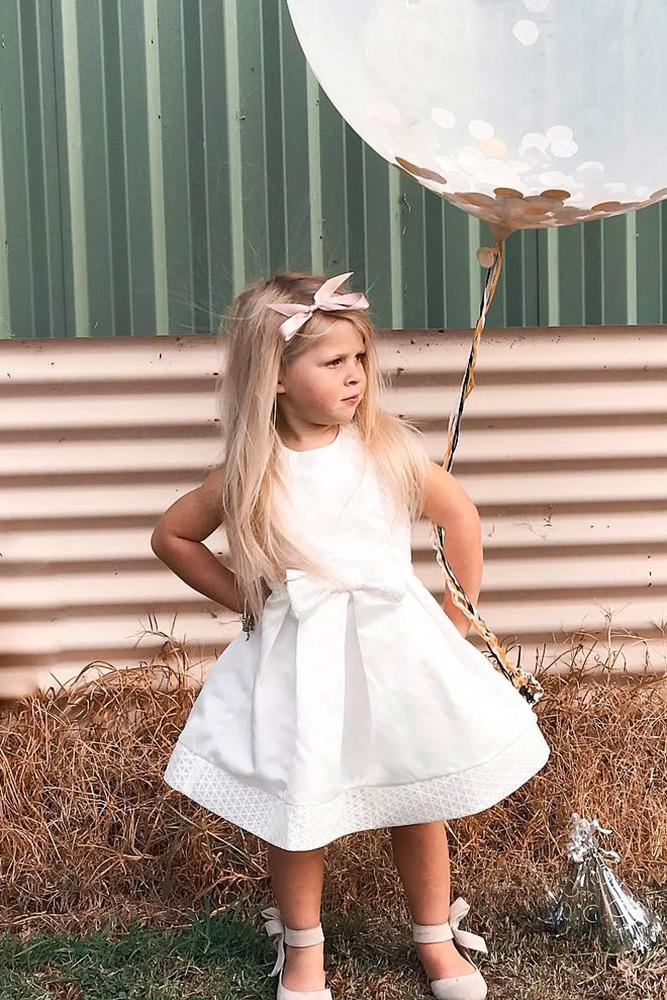 country flower girl dresses simple with bow miss g style