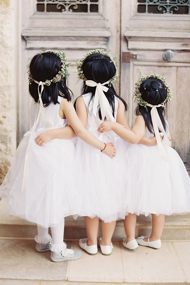 country flower girl dresses tutu with bow simple caroline tran