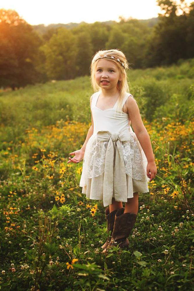 country flower girl dresses with bow boots meghan mais photography