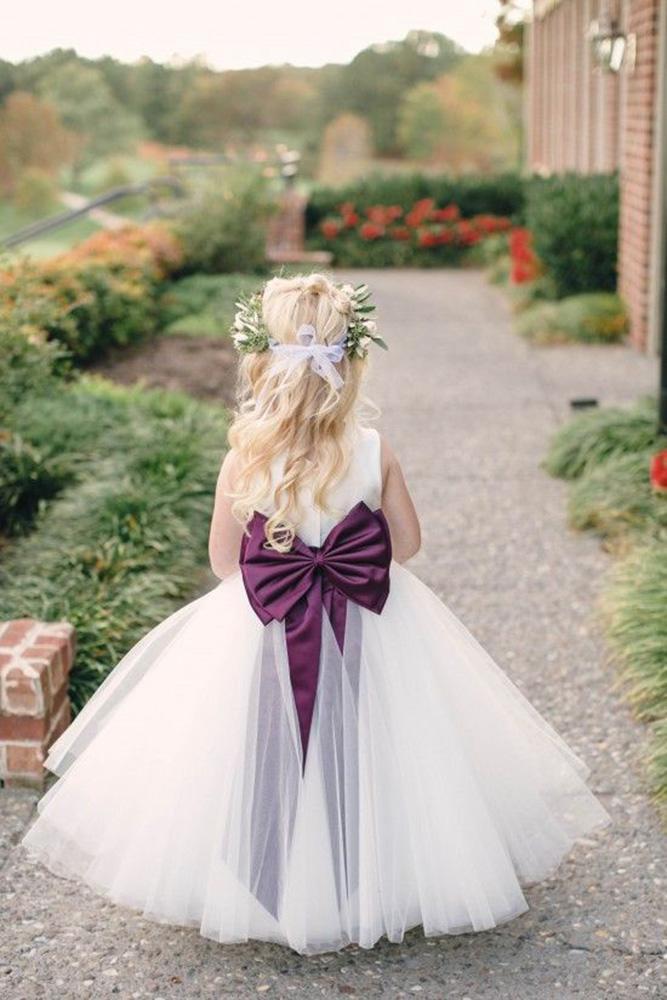 country flower girl dresses with bow tulle skirt kristen gardner photographer
