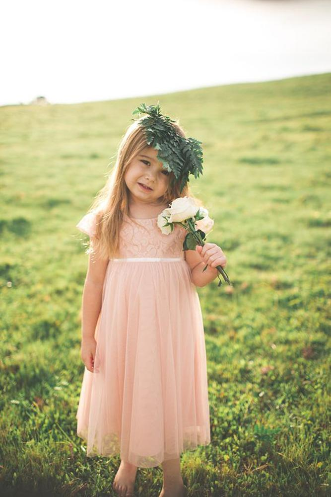 country flower girl dresses with cap sleeves pink jenny yoo
