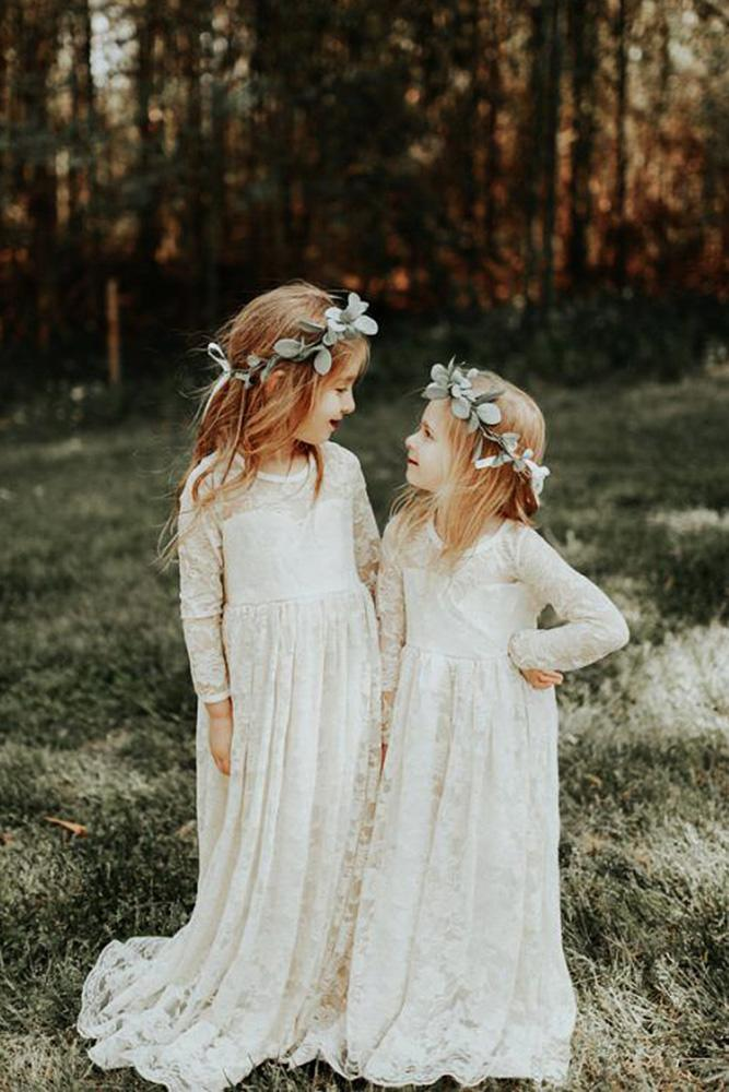 country flower girl dresses with long sleeves lace rustic sophie brendle