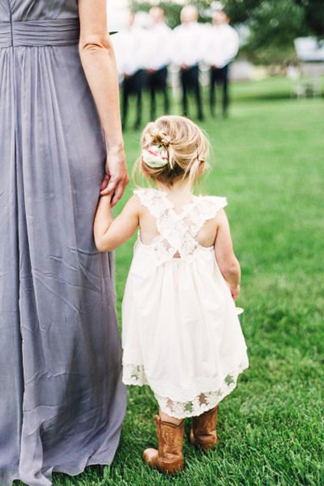 country flower girl dresses x cross lace with boots jeremiah rachel