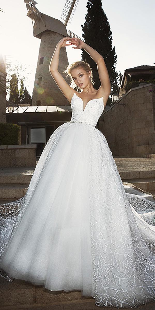dany mizrachi wedding dresses 2018 a line sweetheart sequins top