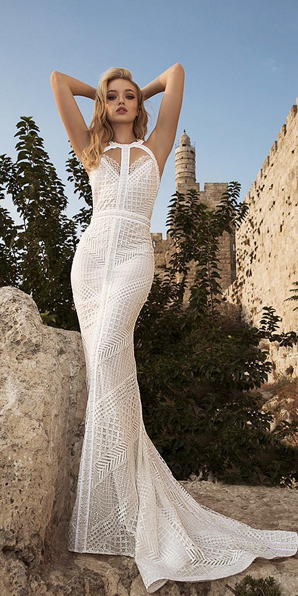 dany mizrachi wedding dresses 2018 mermaid jewel neck sleveless