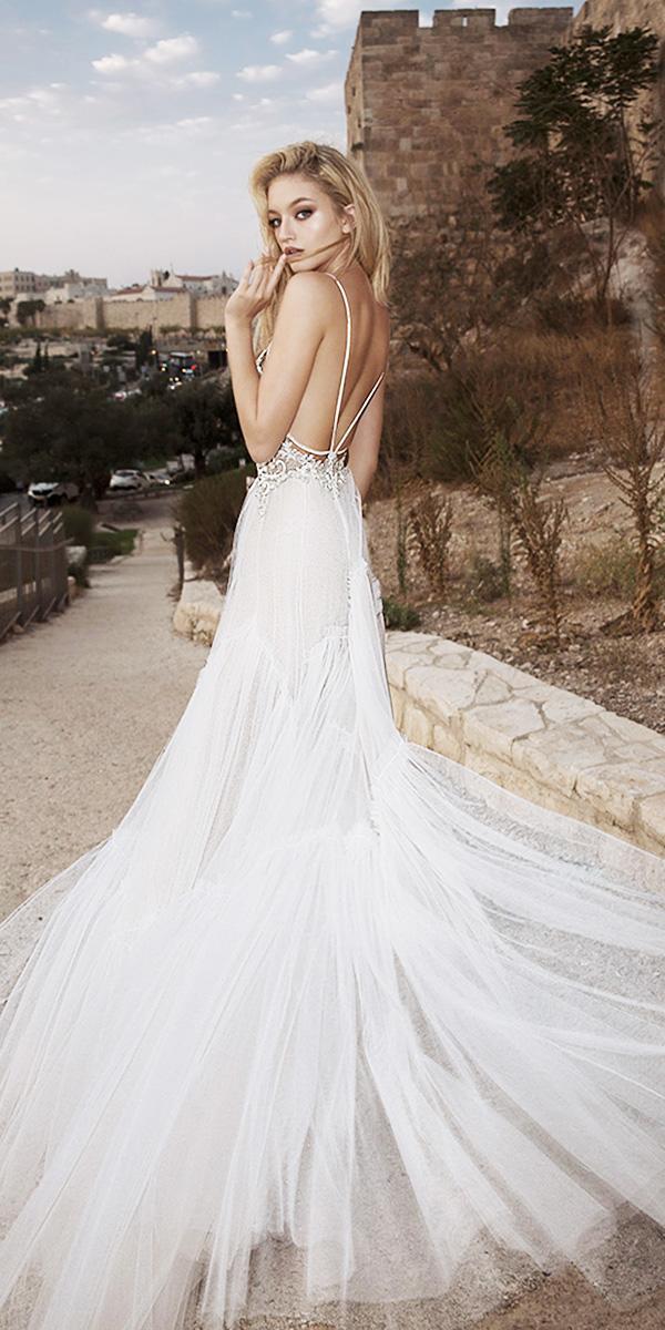 dany mizrachi wedding dresses 2018 sheath open back with straps