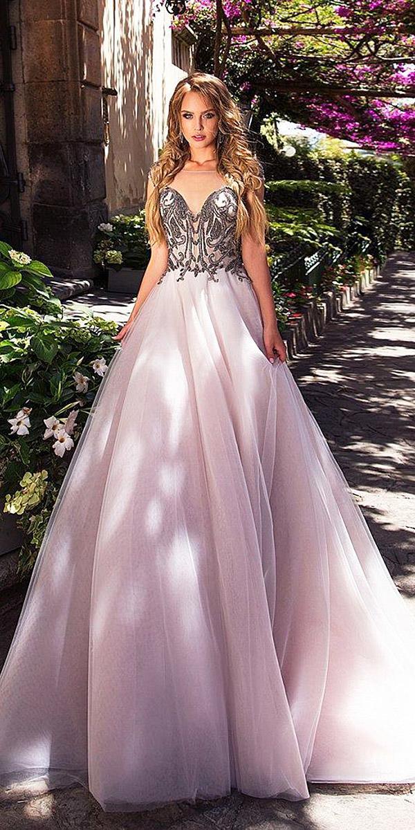 diantamo weddin dresses a line illsion sweetheart purple tulle skirt