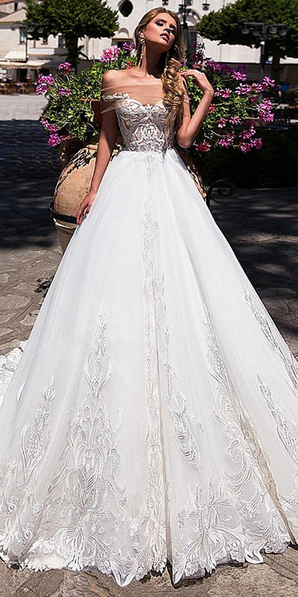 diantamo wedding dresses ball gown off the shoulder sweetheart lace embellishment
