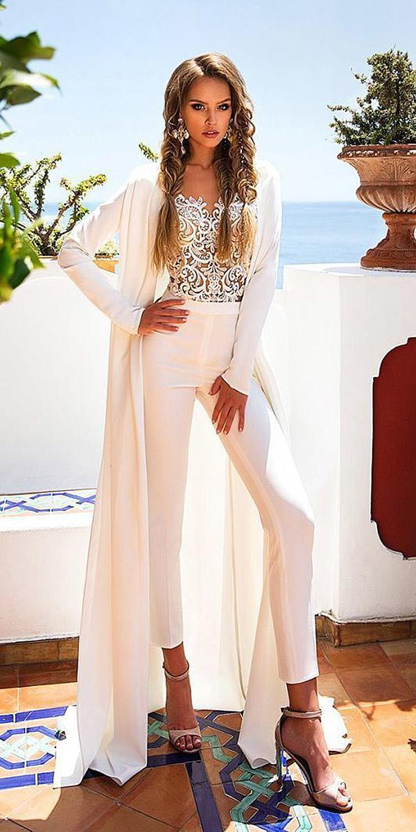 diantamo wedding dresses jumpsuits pantsuit ideas lace top sexy