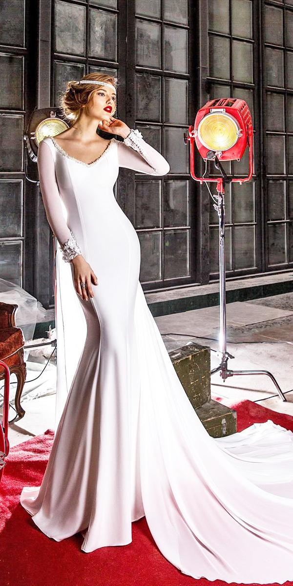elena vasylkova wedding dresses trumpet with long sleeves simple