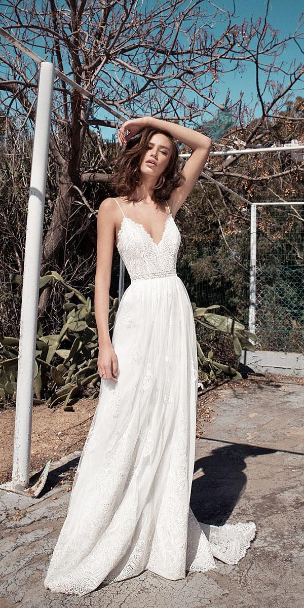 flora wedding dresses with straps lace top floral embroidered skirt