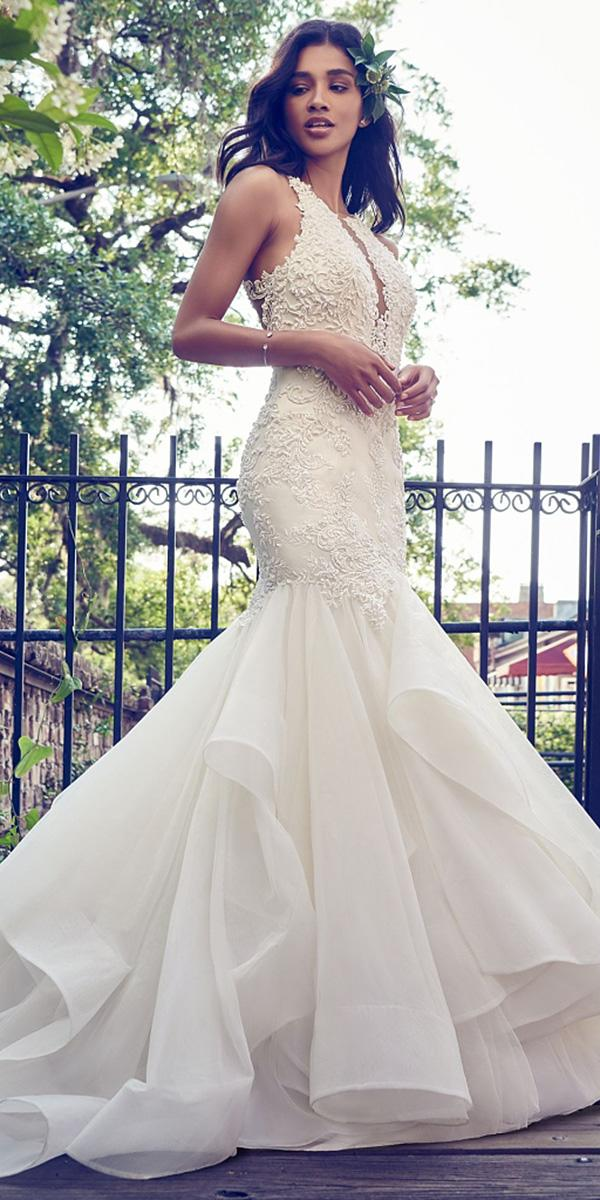 maggie sottero wedding dresses 2018 mermaid deep v neckline chiffon skirt