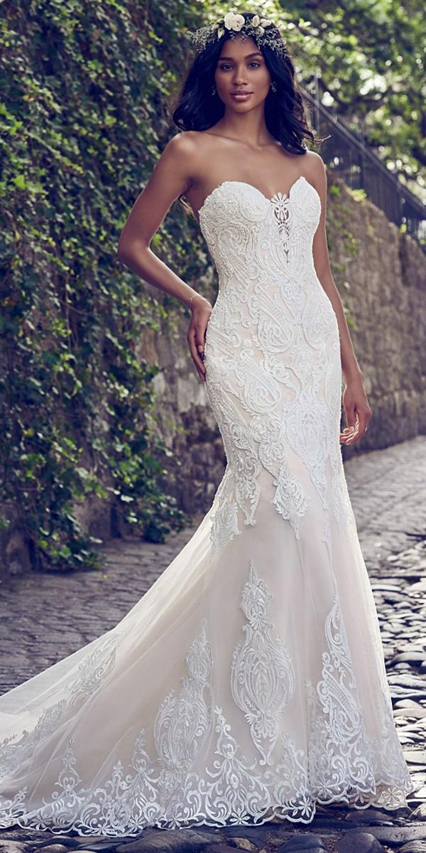 maggie sottero wedding dresses 2018 mermaid sweetheart full lace romantic