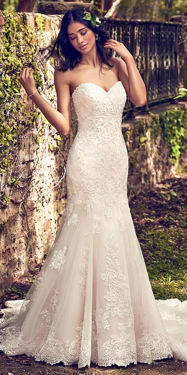 maggie sottero wedding dresses 2018 mermaid sweetheart full lace