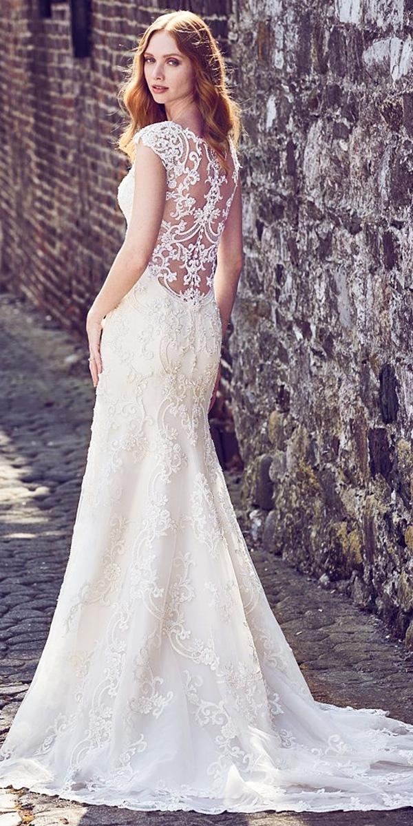 maggie sottero wedding dresses 2018 with cap sleeves illusion lace backless