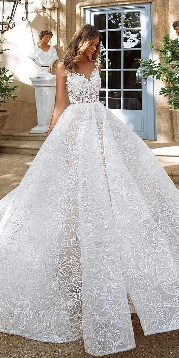 milla nova wedding dresses ball gown sweetheart lace embellishment