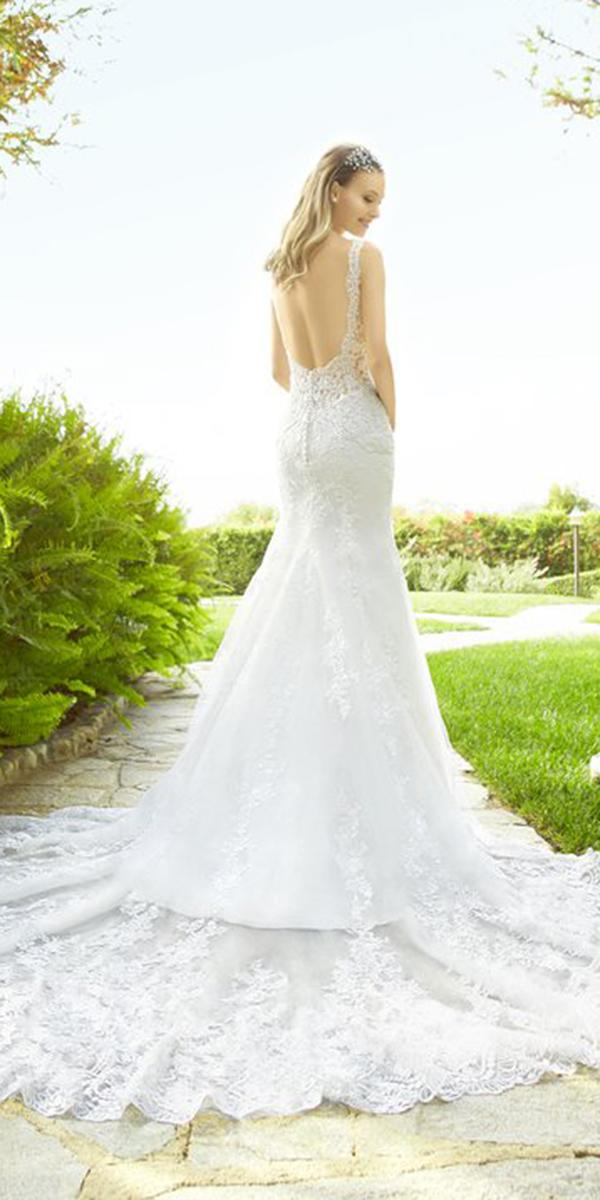 moonlight wedding dresses low back with train 2018